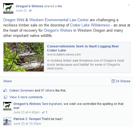 Oregon Wild is anti-hunting